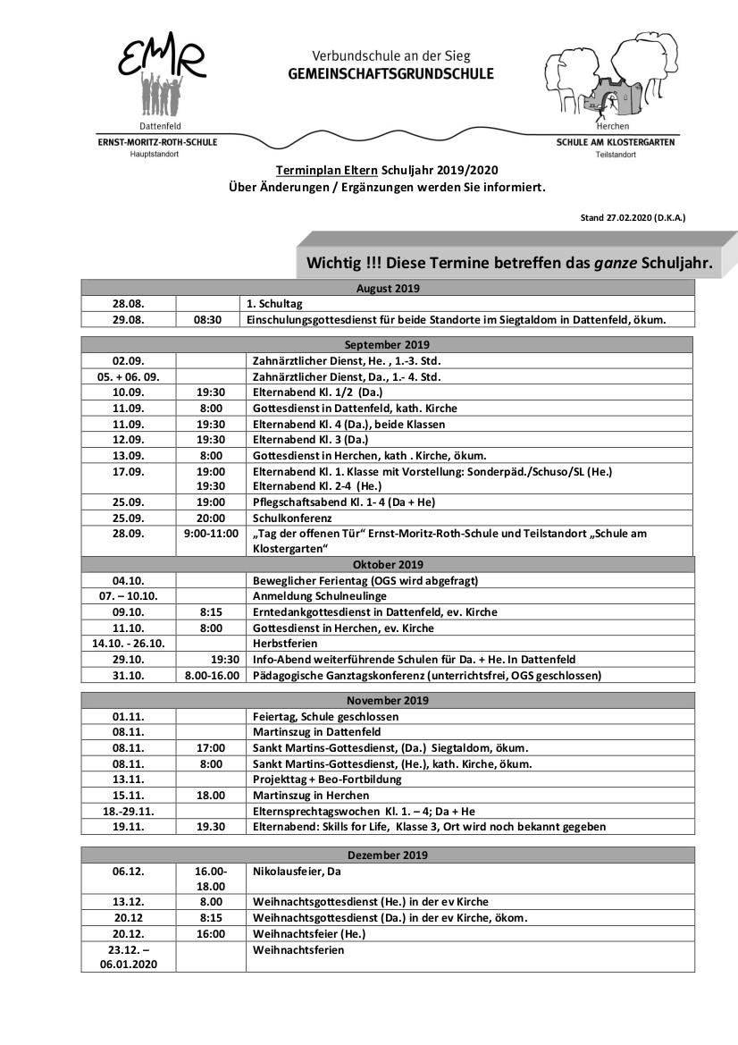 Terminplan 19-20 ElternS1